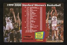 Stanford Cardinal--1999-00 Basketball Magnet Schedule