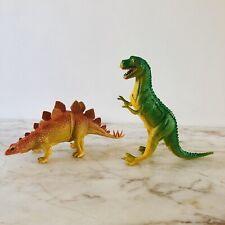 Lot of 2 1985 IMPERIAL Dinosaur T-Rex Tyrannosaurus & Stegosaurus
