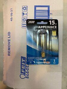 Feit Electric 15 Watt T6 Incandescent Appliance Bulb BP15T6-130 (Box Of 12) New