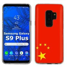 Thin Gel Phone Case Samsung Galaxy S9 Plus,Flag China Red Five Star Nation Print