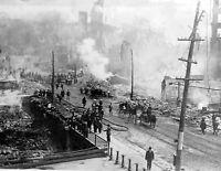 "1911 Great Fire of Bangor, Maine Vintage Photograph 8.5"" x 11"" Reprint"
