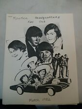 Rare Monkee's Headquarters Issue #17 Fan Club Newsletter March 1982