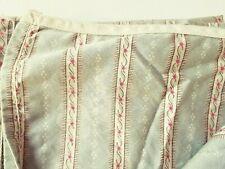 Ralph Lauren Coco Palm Queen Flat Sheet Sage Green Floral Stripe