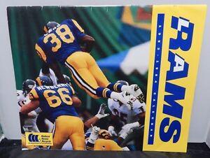 Los Angeles Rams 1993-94 Calendar Jim Everett - Jerome Bettis - Sean Gilbert