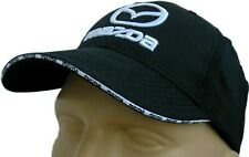 MAZDA CLASSIC BASEBALL CAP BLACK HAT LOGO EMBROIDERED IN FRONT ADJUSTABLE