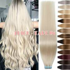 Thick 150G+ Tape In Remy Human Hair Extensions Full Head Skin Weft Blonde Ombre