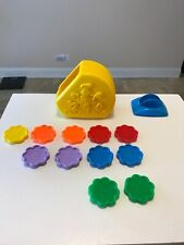 Vintage 1990 Fisher Price Cookie Jar - Near Complete Counting Color Matching 90s