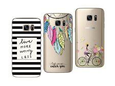 Samsung Galaxy S7 - Pack de 3 Coques gel souple avec impression fantaisie