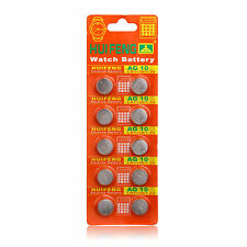 Whoesale 50pcs AG10 LR1130 389A LR54 L1131 189 Button Cell Coin Battery 1.5v