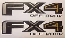 fx4 off road 2017 decal Matt black gray and chrome gold, decal sticker ford(SET)