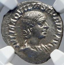 AQUILIA SEVERA Elagabalus Wife 220AD RARE Ancient Silver Roman Coin NGC i82616