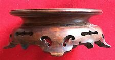 Chinese Carved Wood Display Stand for Kangxi Porcelain Vase or Lamp Base Censer