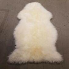 Ikea Ludde Vere pelle di Pecora 90x55x6cm Elfenbeinweiß Bianco Tappeto Nuovo