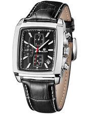 Casual Watch Leather Wrist Quartz Chronograph MEGIR Men's Business Formal Hot