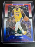 2019-20 PANINI PRIZM #129 LEBRON JAMES RED WHITE BLUE REFRACTOR PARALLEL LAKERS!