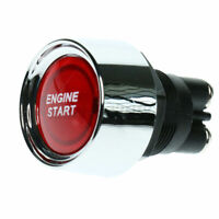 Interruttore A Pulsante Start Stop Accensione Motore 50A 12V LED Auto Rosso