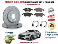FOR MERCEDES CLS 350 220 250 220 2011 > FRONT BRAKE DISCS SET + PADS + SENSOR