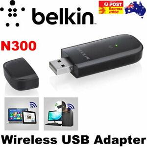 Belkin N300 Wireless USB Adapter - Connect Laptop or Desktop to Wireless Network
