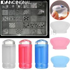 Tampon + Stamping Pochoir Template Plaque Vernis à Ongle Stamp Manucure Nail Art