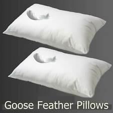 Luxury Goose Feather Pillows - Hotel Quality - Extra Filling - Firm Support