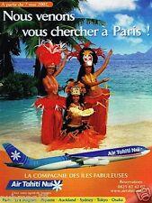 Publicité advertising 2002 Compagnie aerienne Air Tahiti NUi