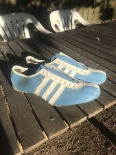 Vintage 60's 70's Adidas Avanti Blue Leather Track Running Shoes France Sz 9