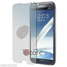 4 Film Opaque Pour Samsung Galaxy Note 2 II N7100 Antireflet Anti-traces