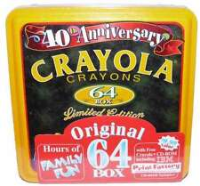 Crayola Crayons 1998 LE Collectible 40th Anniversay Tin With IBM CD