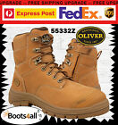 Oliver Men's Work Safety Boots Wheat Steel Toe Lace Up ZIP AU/UK Size 55332Z