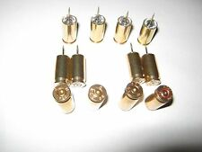 """Lot of 12 - 9mm Polished Once Fired Brass Cork Board Push Pins 3/8"""" Pin"""