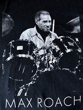 Classic Drummer Max Roach Black Tshirt 2Xl