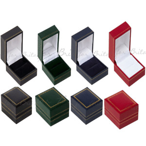 Leatherette Ring Box RED, GREEN, BLACK, BLUE , Gift boxes, display boxes