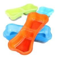 ANti-slip Suction Cup Bright Color Pet Dog Double Bowl Food & Water Dish Tray