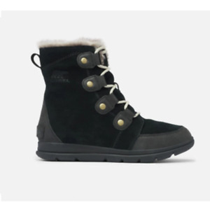 Sorel Explorer Joan Black Boots