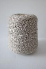 Baby alpaca tejido de hilo de franela gris jaspeado