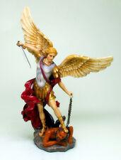 Saint St. Michael Archangel Defeated Lucifer Colored Statue Figurine Decor 9228