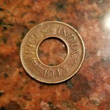 1943 INDIA 1 PICE COIN - WW2 ERA - #A795