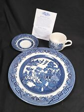 4 SETS OF 3 Piece Dinnerware set by Churchill Blue Willow Design China
