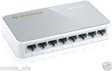 NEW TP-LINK TL-SF1008D 8-Port 10/100Mbps LAN RJ45 Desktop Switch Green Ethernet