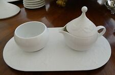 Rosenthal Magic Flute White Creamer Covered Sugar & Undertray Absolute Mint Cond