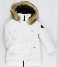 DIESEL Girls' JIRK Hooded Winter Coat Jacket, White, size 6 years