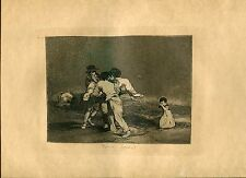 GOYA «Madre infeliz!» Grabado (engraving) orig nº 50 Desastres (War Disasters)