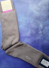 Paul Smith Para Hombre Italiano Calcetines Brillo Costilla Gris Plata K134 Mediano Grueso De Un Tamaño
