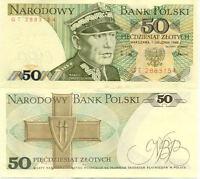 Billet banque POLOGNE POLAND VARSOVIE WARSZAWA 50 ZLOTYCH 1988 NEUF UNC