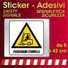 Adesivi Segnaletica Sicurezza / passaggio carrelli