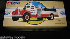 CORGI CLASSICS  MACK B PUMPER FIRE ENGINE PAXTONIA  OLD SHOP STOCK  52401