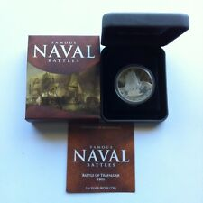 2011 $1 Famous Naval Battles Of Trafalgar 1oz Silver Proof Coin