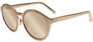 Occhiali da Sole Linda Farrow 338  ROSE GOLD SNAKESKIN/ROSE 56/20/148 donna