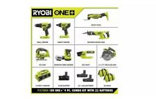 RYOBI 18V Cordless Combo Kit (9-Tool) with 3 Batteries and 6-Port SUPERCHARGER