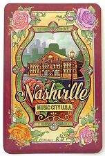SWAP CARD.  NASHVILLE COUNTRY MUSIC CITY TENNESSEE SOUVENIR CARD. ROSE EMBLEMS